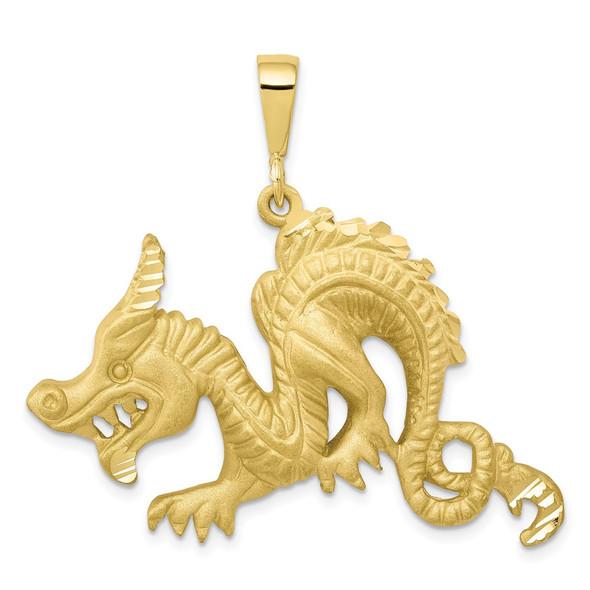 10k Yellow Gold Dragon Pendant