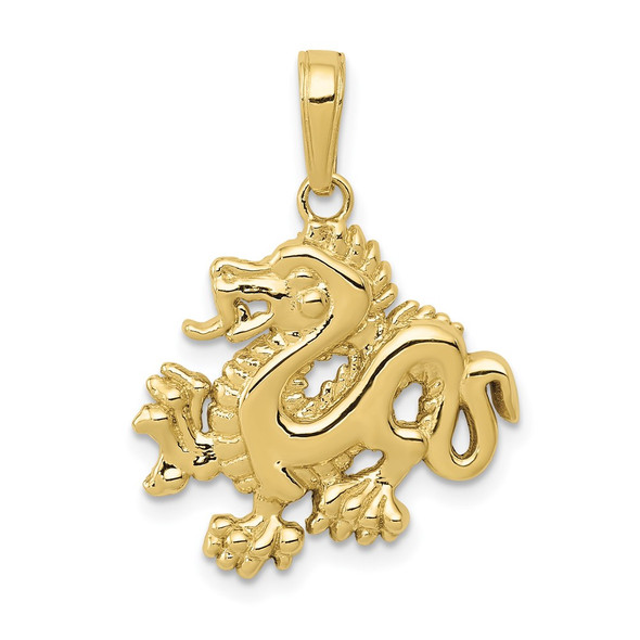 10k Yellow Gold Dragon Pendant 10C2379