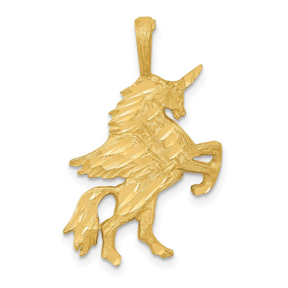 14k Yellow Gold Unicorn Pendant C1146