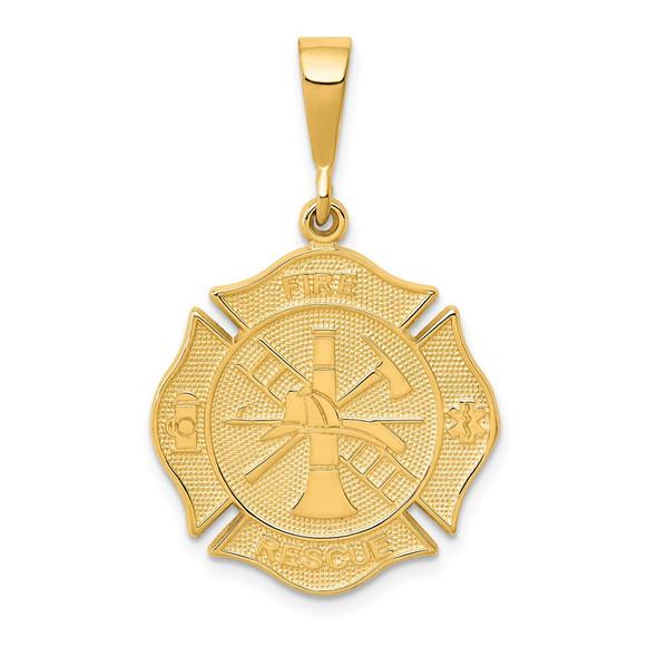 14k Yellow Gold Fire Rescue Pendant