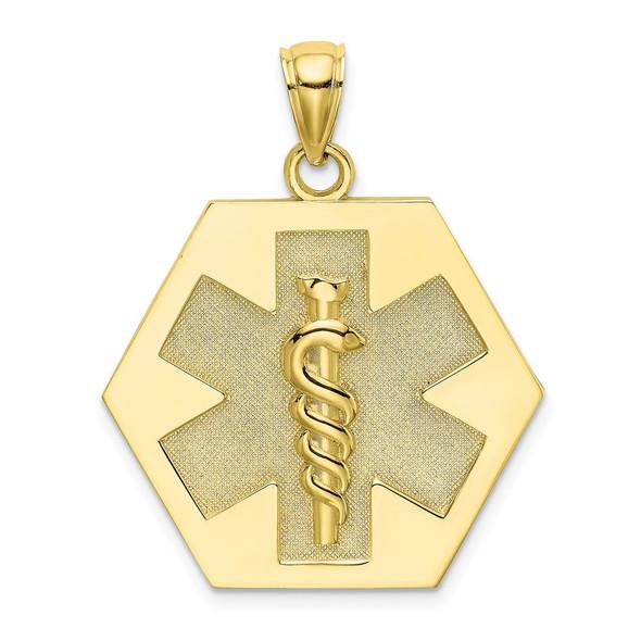 10k Yellow Gold Medical Disc Pendant 10k8315