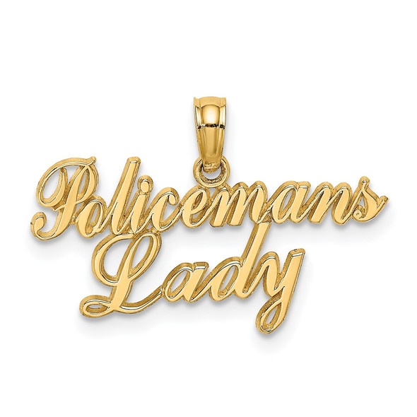 14k Yellow Gold POLICEMANS LADY Pendant