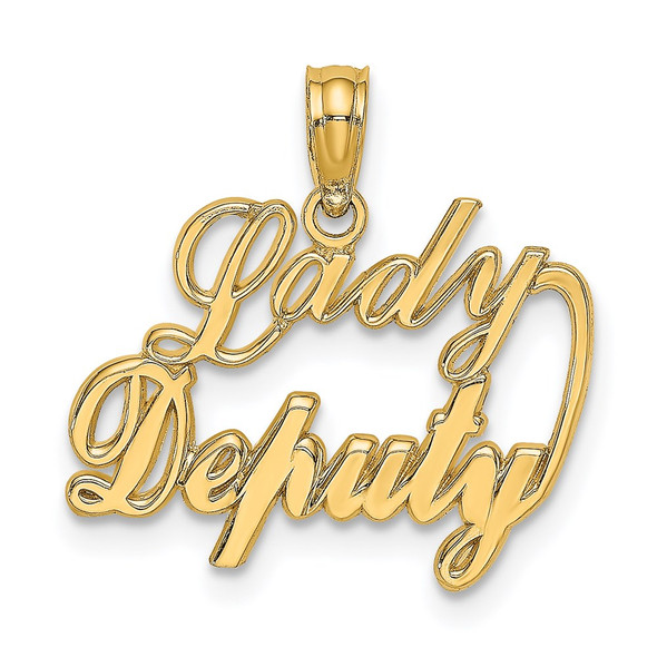 14k Yellow Gold Lady Deputy Pendant