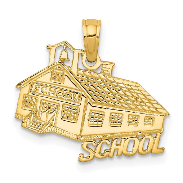 14k Yellow Gold School House Pendant
