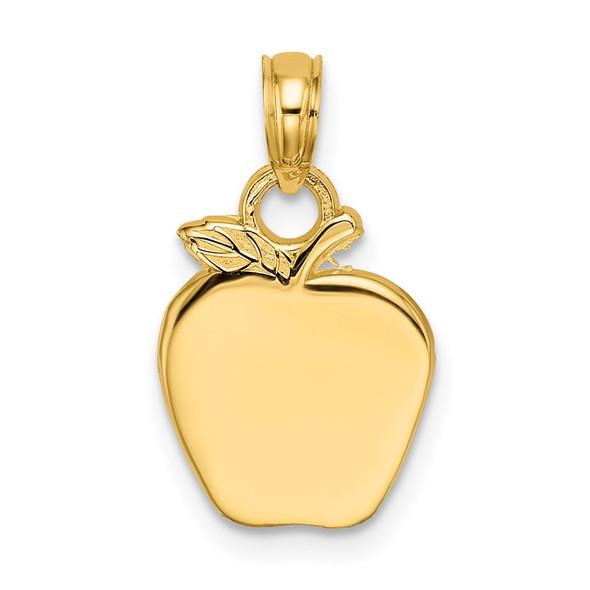 14k Yellow Gold Polished Apple Pendant