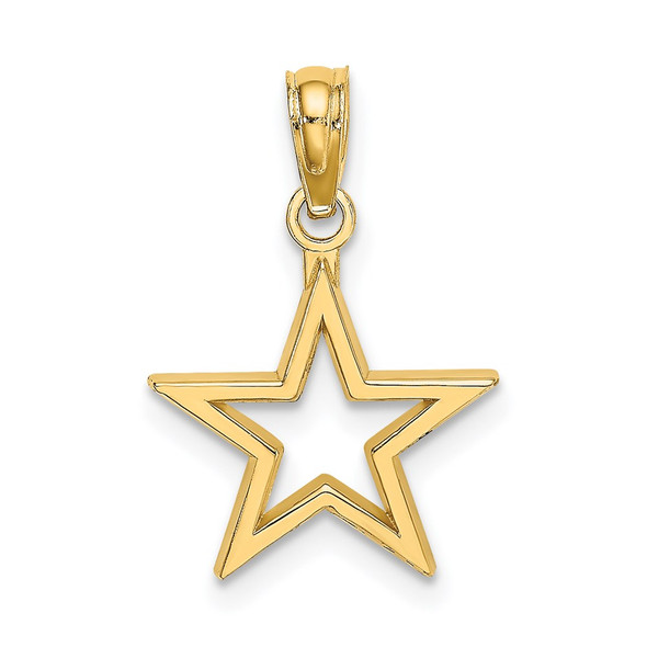 14k Yellow Gold Cut-Out Star Pendant