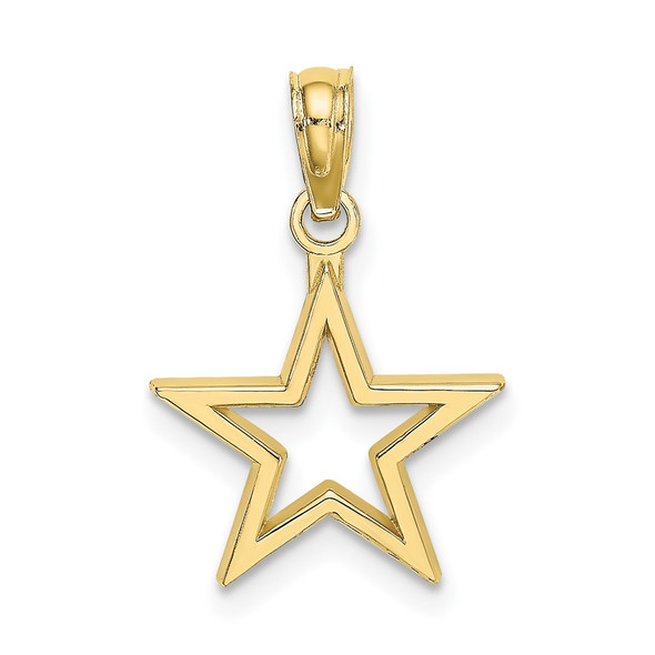 10k Yellow Gold Cut-Out Star Pendant