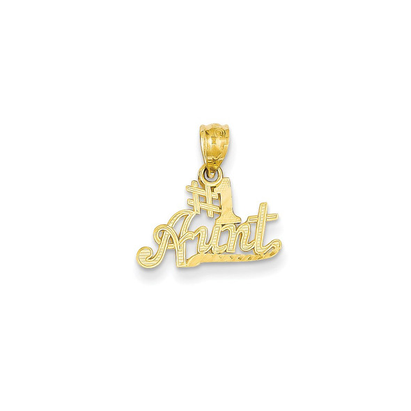 14k Yellow Gold #1 Aunt Pendant