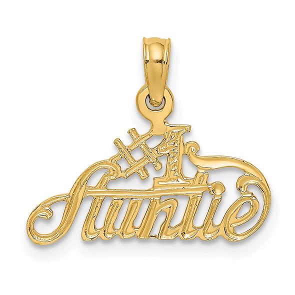 14k Yellow Gold #1 Auntie Pendant