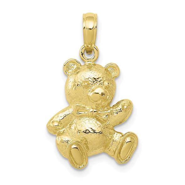 10k Yellow Gold Teddy Bear Pendant