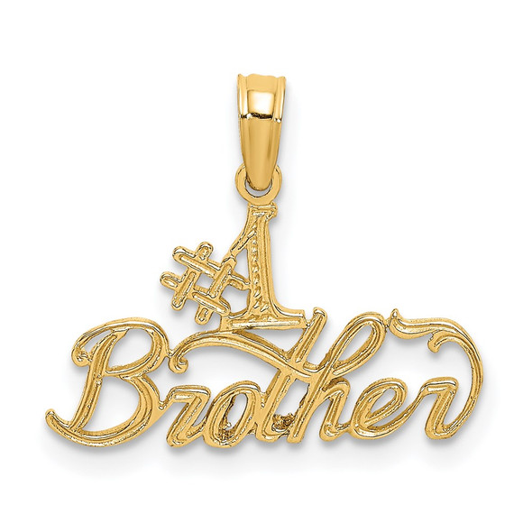 14k Yellow Gold #1 Brother Pendant
