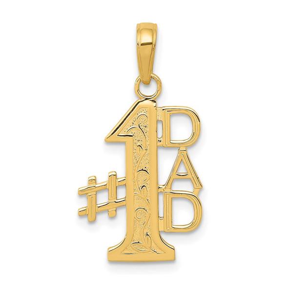14k Yellow Gold #1 Dad Pendant K4732