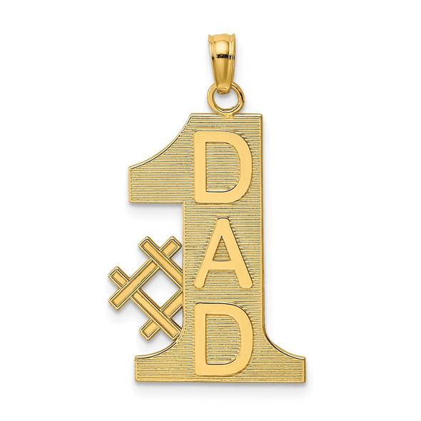 14k Yellow Gold #1 Dad Pendant K4730