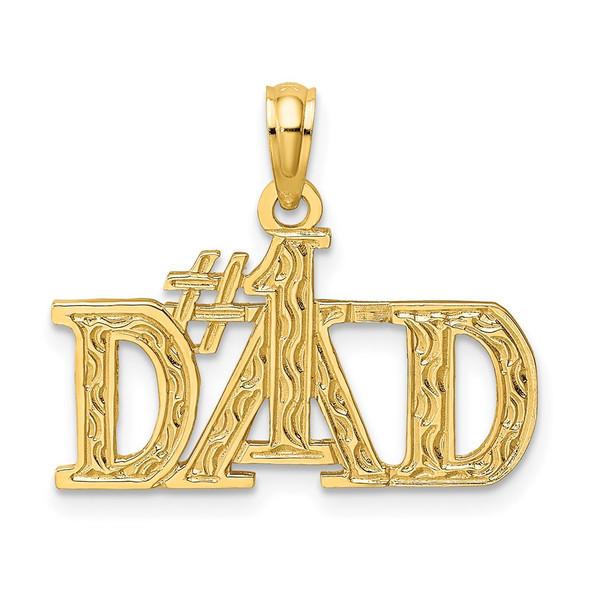 14k Yellow Gold #1 Dad Pendant C3024