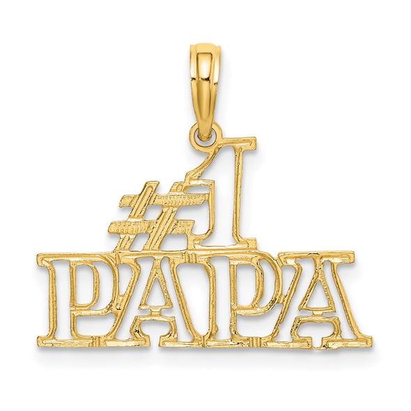 14k Yellow Gold #1 Papa Cut-Out Pendant