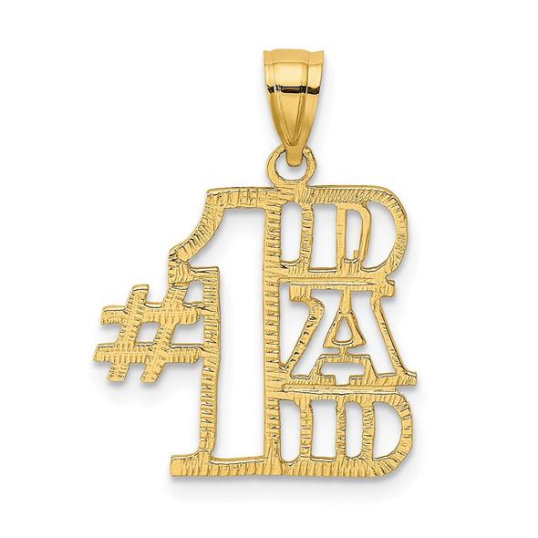 14k Yellow Gold #1 Dad Pendant K2685