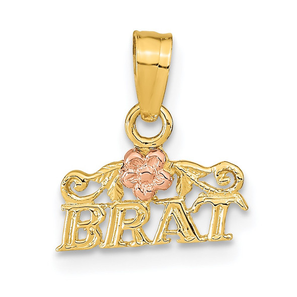 14k Rose and Yellow Gold Brat Pendant