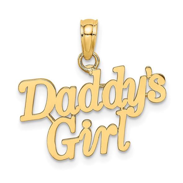 14k Yellow Gold DADDYS GIRL Pendant K8841