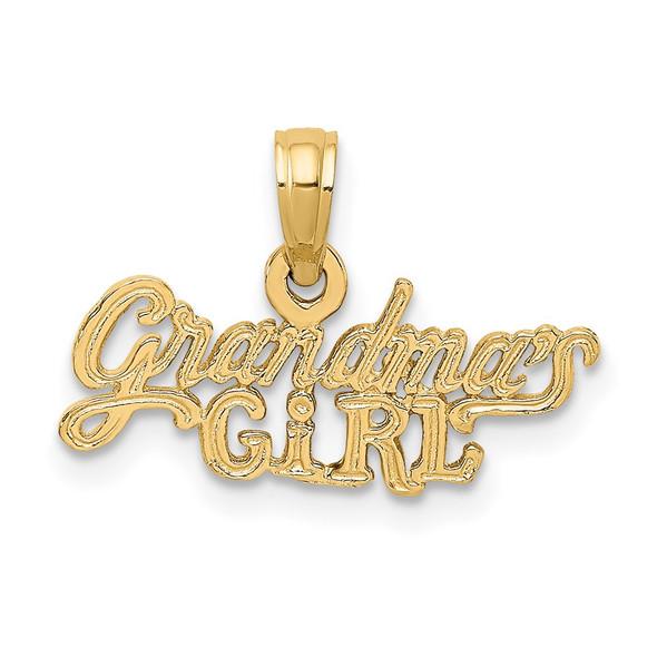 14k Yellow Gold GRANDMAS GIRL Pendant K2700