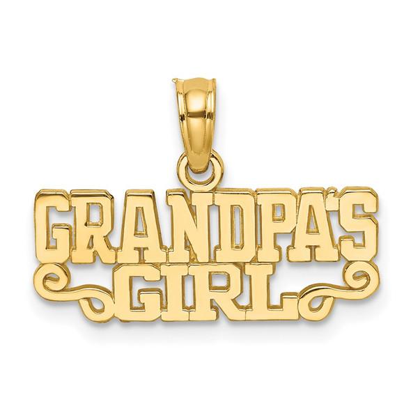 14k Yellow Gold Grandpas Girl Pendant