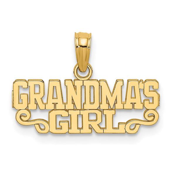 14k Yellow Gold GRANDMAS GIRL Pendant C3011