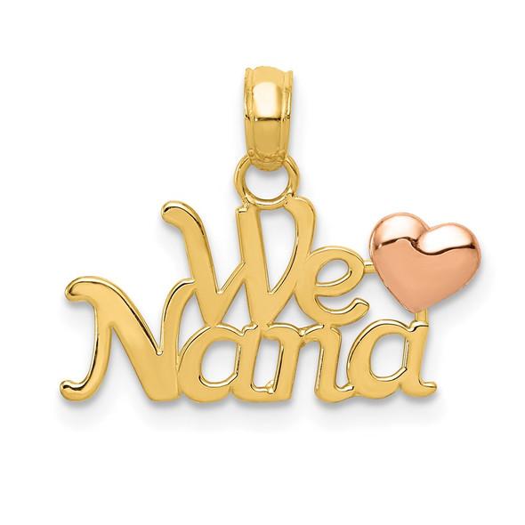 14k Yellow and Rose Gold We Love Nana Pendant
