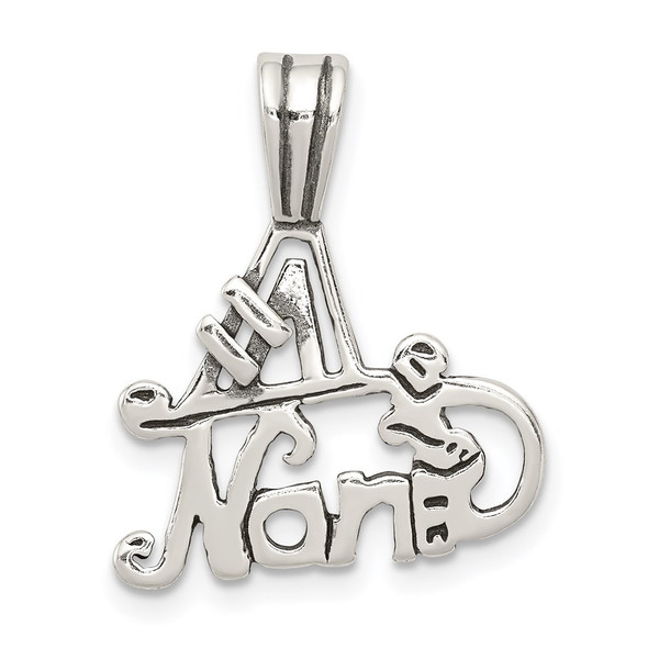 Sterling Silver #1 Nana Pendant