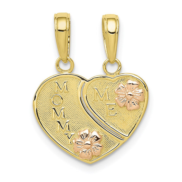 10k Rose and Yellow Gold Mommy and Me 2 piece Break-A-Part Pendant