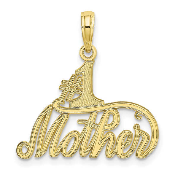 10k Yellow Gold #1 Mother Pendant