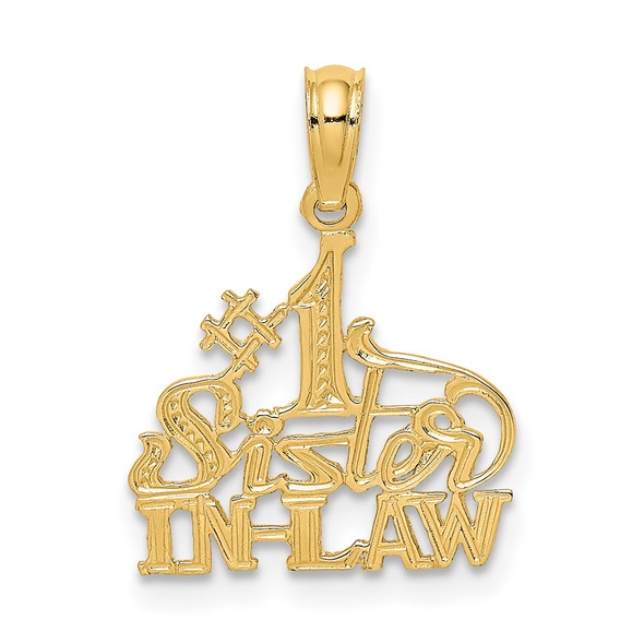 14k Yellow Gold #1 Sister-In-Law Pendant