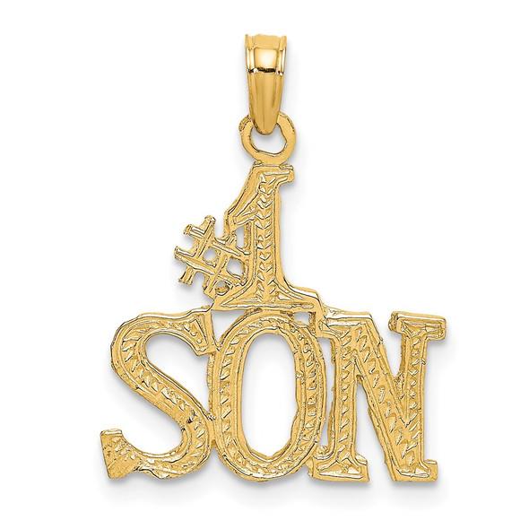 14k Yellow Gold #1 Son Pendant C3019