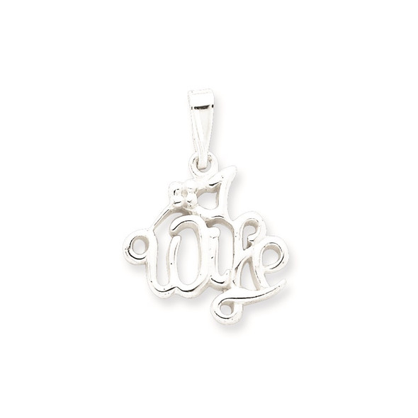 Sterling Silver #1 Wife Pendant