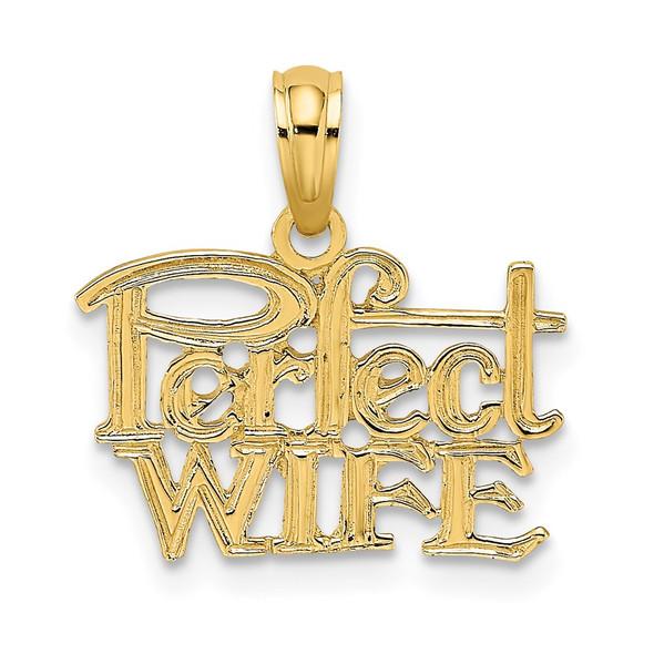 14k Yellow Gold Perfect Wife Pendant K2688