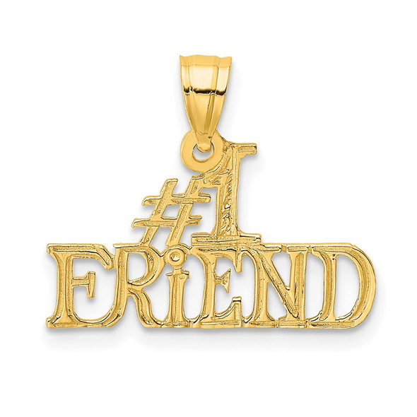 14k Yellow Gold #1 Friend Pendant