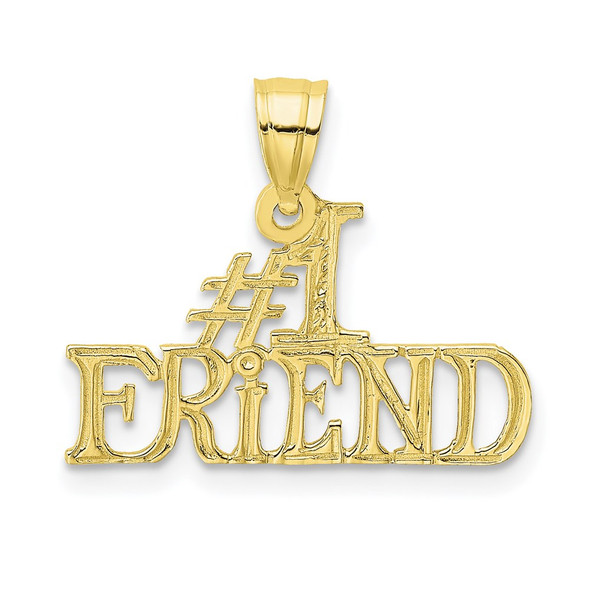 10k Yellow Gold #1 Friend Pendant