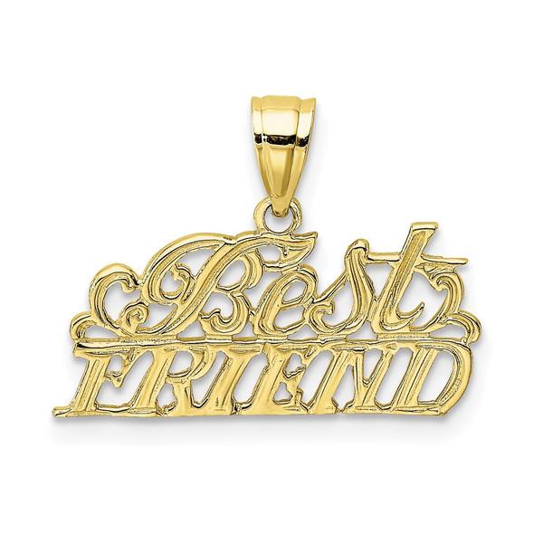 10k Yellow Gold Best Friend Pendant