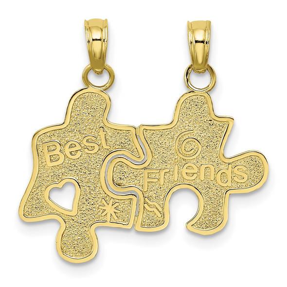 10k Yellow Gold Best Friends Break-A-Part Puzzle Pieces Pendant