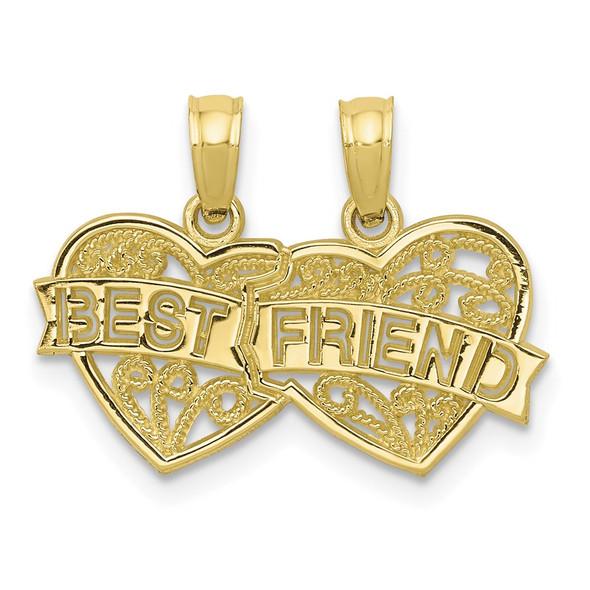 10k Yellow Gold Best Friend 2 Piece Break-A-Part Pendant