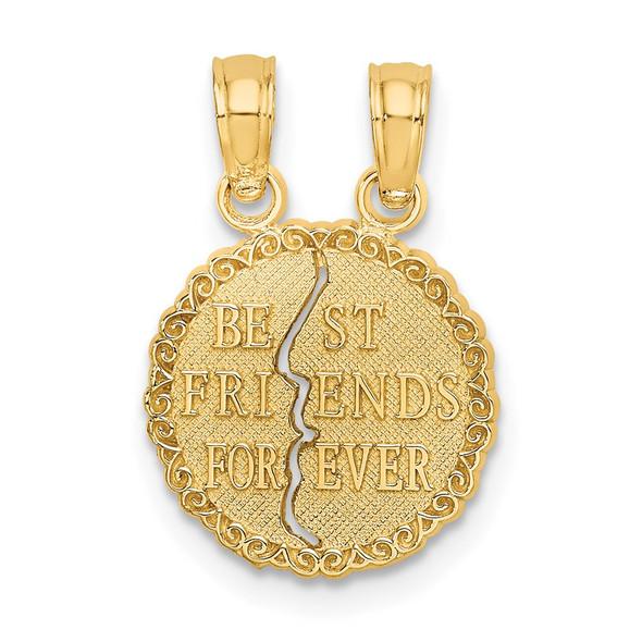 10k Yellow Gold Best Friends Forever Break Apart Pendant