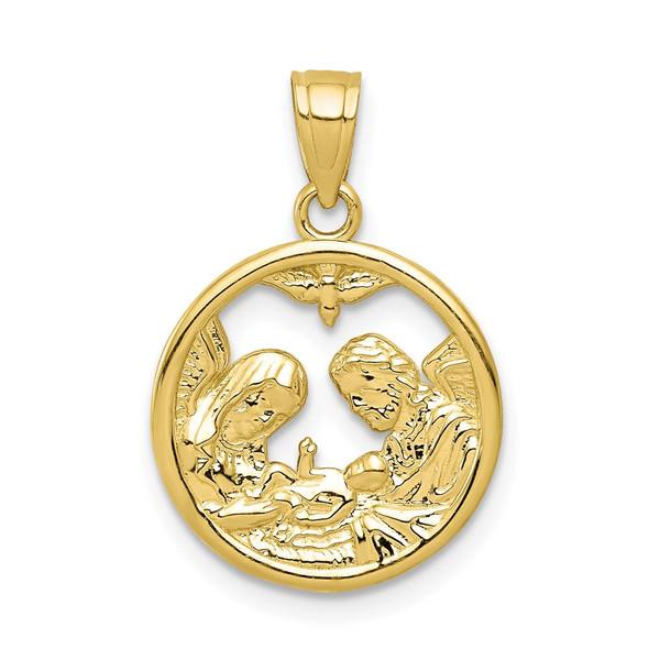 10k Yellow Gold Nativity Pendant