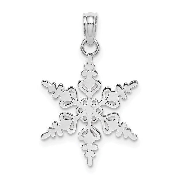 14k White Gold Polished Snowflake Pendant K4743W