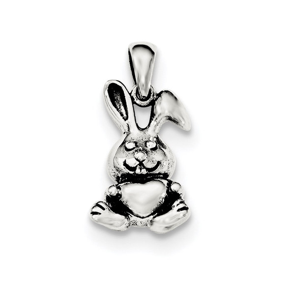 Sterling Silver Polished Rabbit Pendant