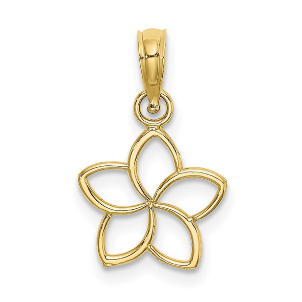 10k Yellow Gold Cut Out Flower Pendant