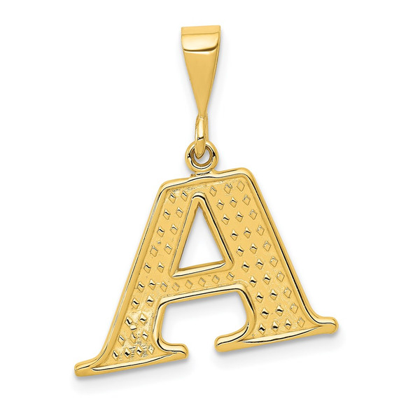 14k Yellow Gold Initial A Pendant C1449-A