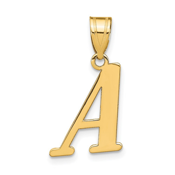 14k Yellow Gold Polished Letter A Initial Pendant YC1440A