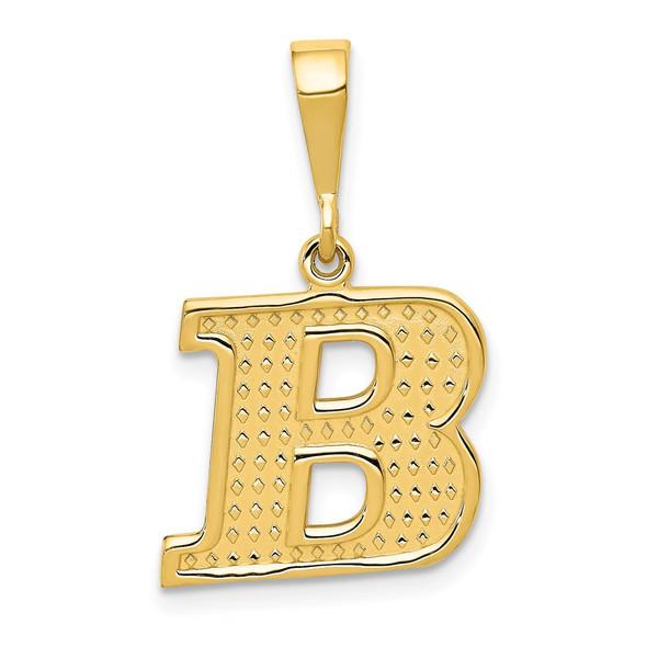 14k Yellow Gold Initial B Pendant C1449-B