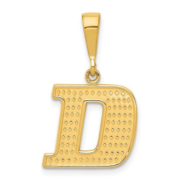 14k Yellow Gold Initial D Pendant C1449-D