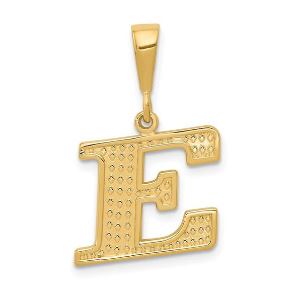 14k Yellow Gold Initial E Pendant C1449-E