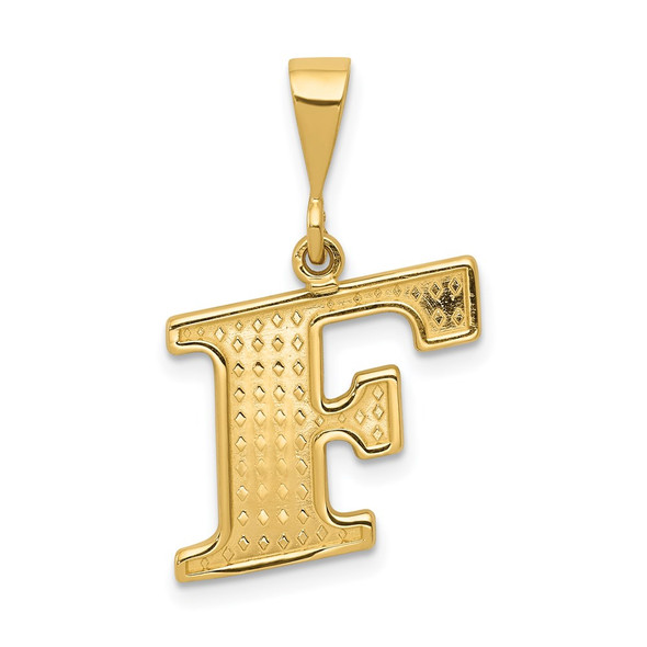 14k Yellow Gold Initial F Pendant C1449-F