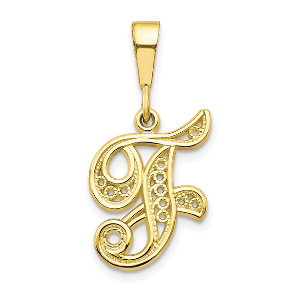 10k Yellow Gold Initial F Pendant 10C242/F